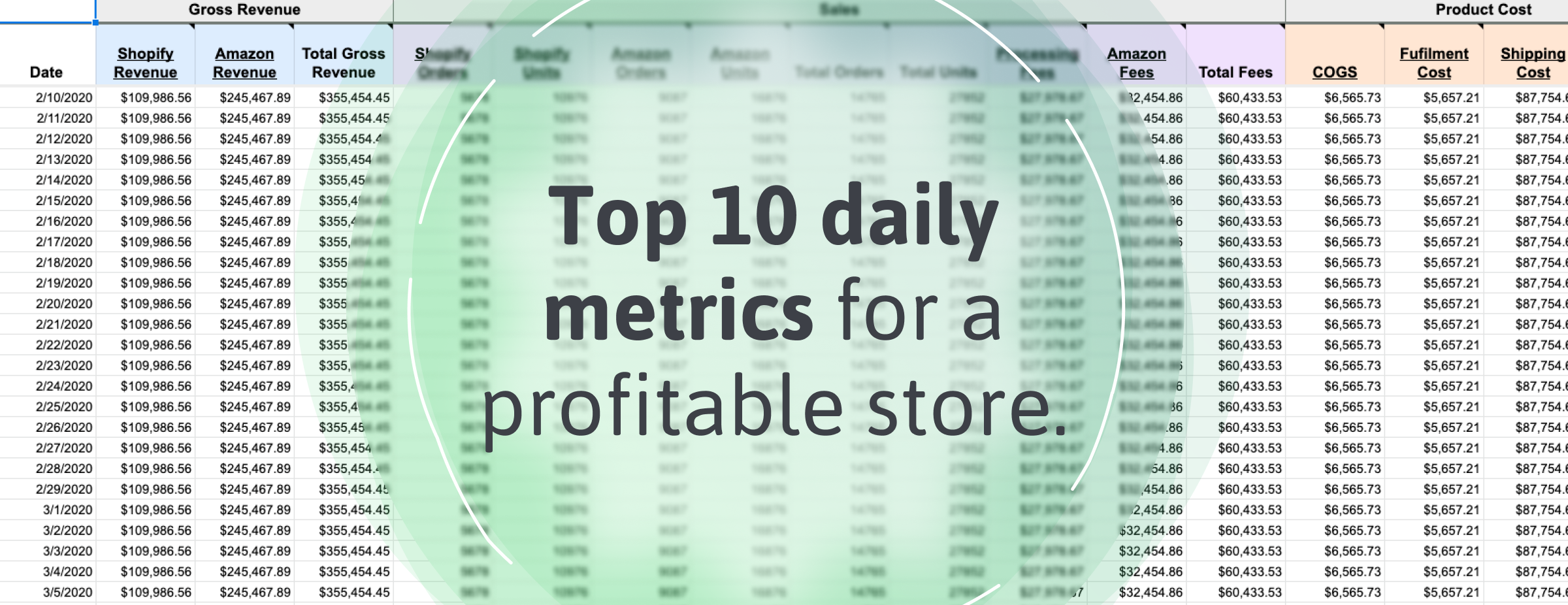 Top 10 daily metrics you need to track for a profitable Shopify Store.